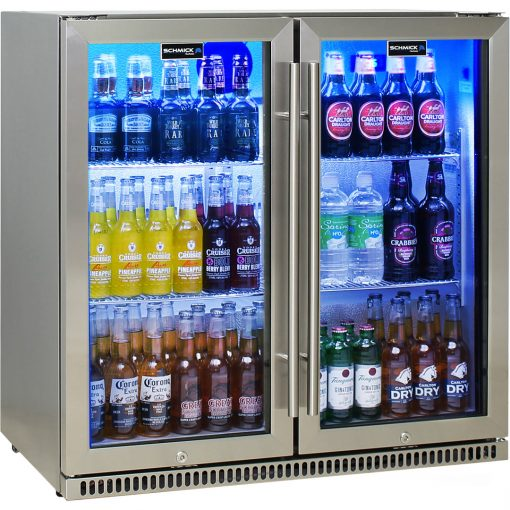 Schmick 2 Door Stainless Bar Fridge Triple Glazing