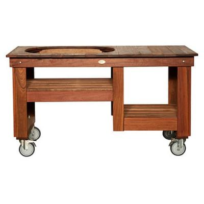 Primo Spotted Gum Countertop with Shelf Table for Primo Oval XL