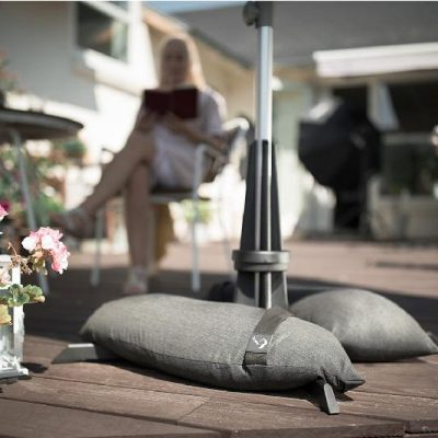 Baser Garden Parasol Base 30kg - Dark Grey