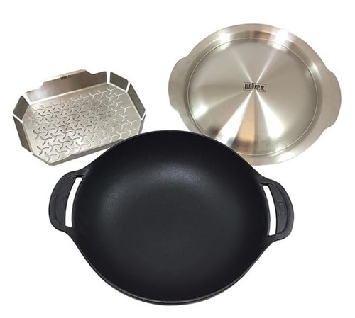 Weber® Gourmet Barbecue System Cast Iron Wok and Steamer Set