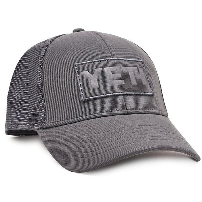 yeti-patch-trucker-hat-gray-angle